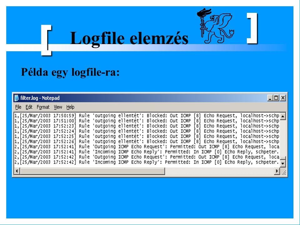 ] [ Logfile elemzés Példa egy logfile-ra: